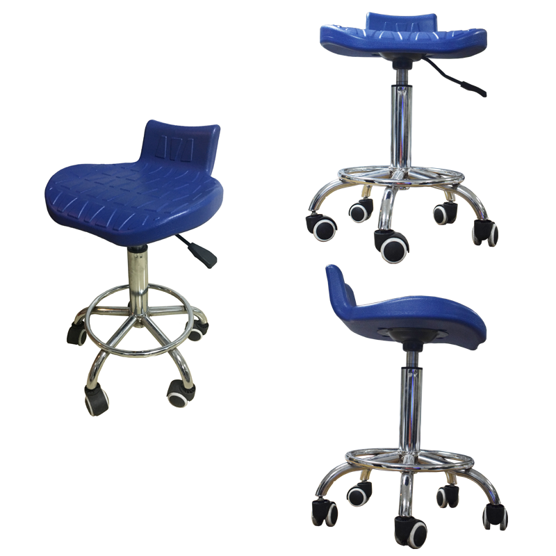 Steel lab stools with wheels