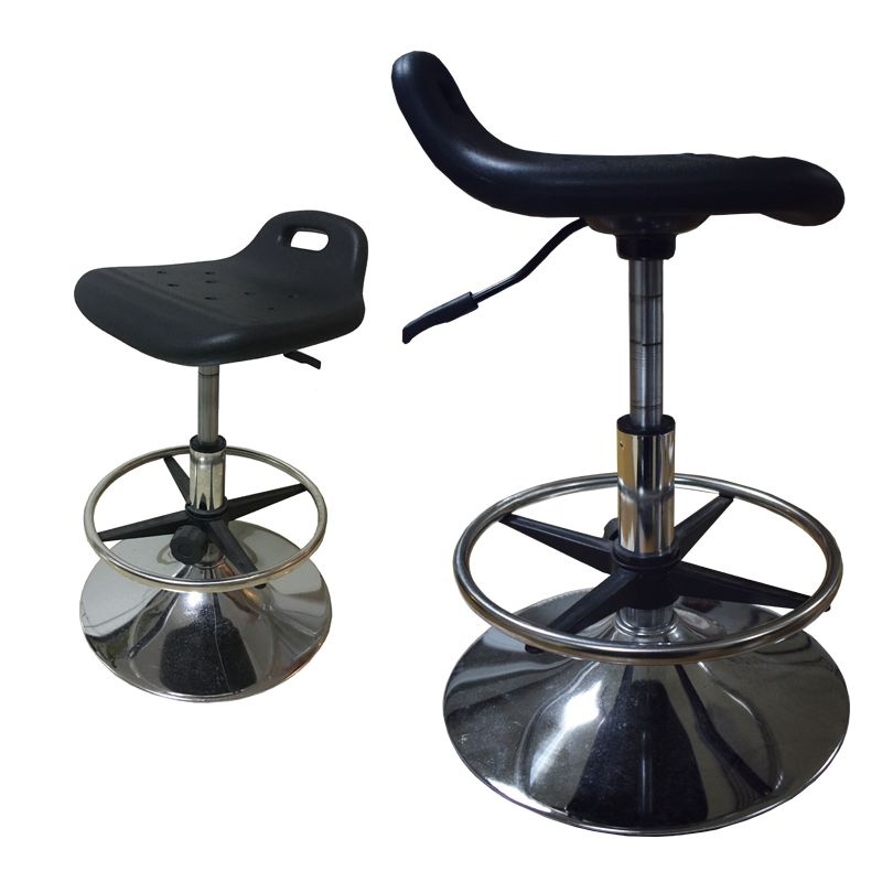 Height adjustable circle lab stool
