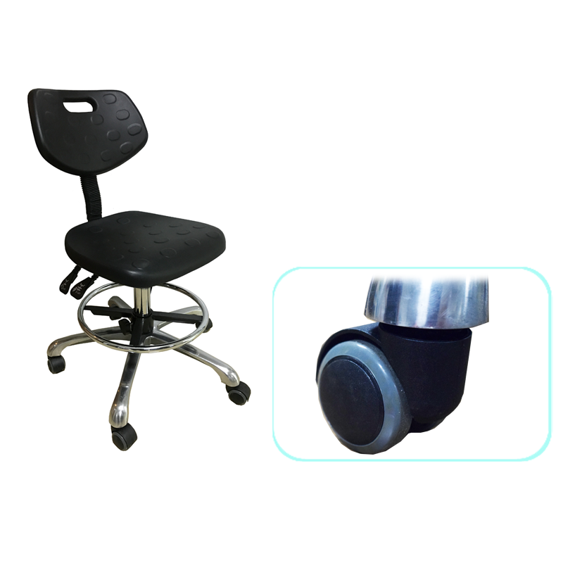 Height adjustable lab chairs with set castors