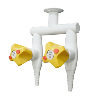 Safety high qulity celling double-head gas cock gas valve