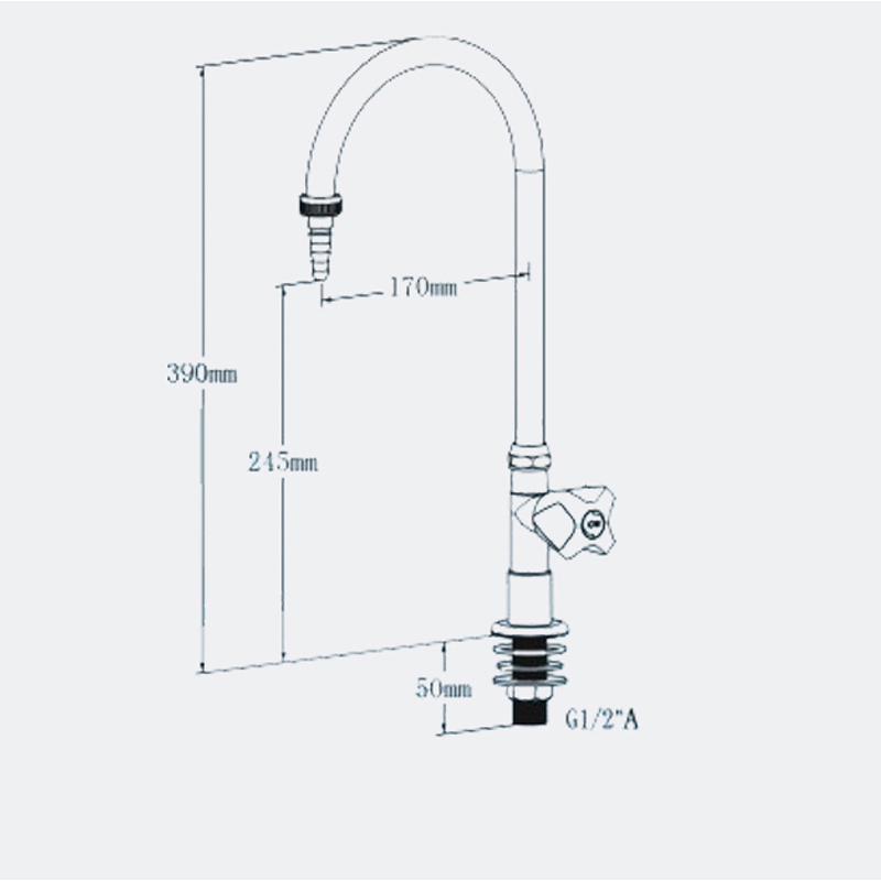 High quality Lab fittings single way water faucet