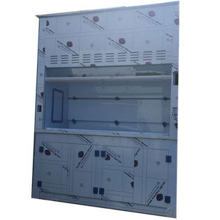High quality PP fume hood with under cabinets