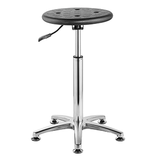 Aluminium alloy & Pu material height adjustable lab chair lab stool